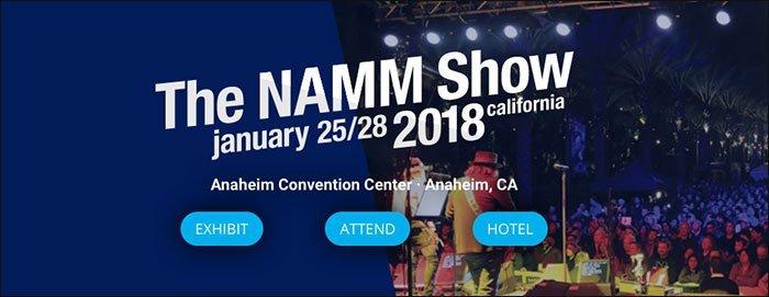CTAs en botones en la página del NAMM Show.